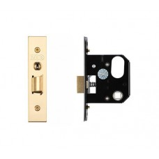 Zoo Hardware - 3L UK Door Replacement Night Latch 64mm 44.5mm Bkst PVD - ZURNL64PVD