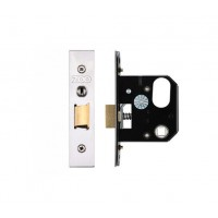 3L UK Door Replacement Night Latch 64mm 44.5mm Bkst SS