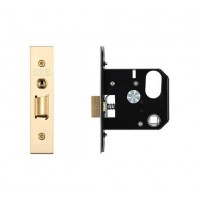 3L UK Door Replacement Night Latch 76mm 57mm Bkst PVD