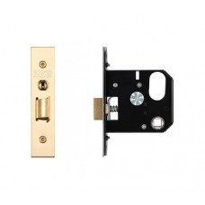 Zoo Hardware - 3L UK Door Replacement Night Latch 76mm 57mm Bkst PVD - ZURNL76PVD