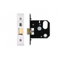 3L UK Door Replacement Night Latch 76mm 57mm Bkst SS