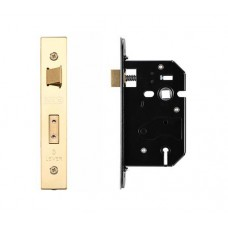 Zoo Hardware - 3L UK Door Replacement Sash Lock 64mm 44.5mm Bkst PVD - ZURS364PVD