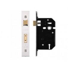 Zoo Hardware - 3L UK Door Replacement Sash Lock 64mm 44.5mm Bkst KA SS - ZURS364SSKA