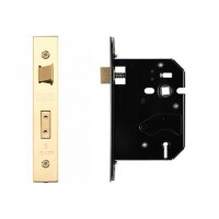 3L UK Door Replacement Sash Lock 76mm 57mm Bkst PVD Gold