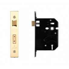 Zoo Hardware - 3L UK Door Replacement Sash Lock 76mm 57mm Bkst PVD Gold - ZURS376PVD