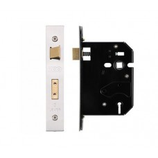 Zoo Hardware - 3L UK Door Replacement Sash Lock 76mm 57mm Bkst KA SS - ZURS376SSKA